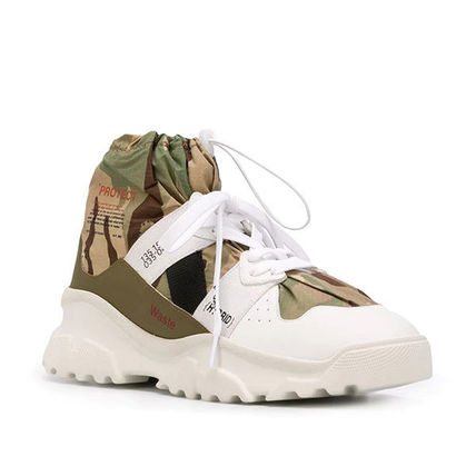 F_WD Sneakers Camouflage Street Style Leather Logo Sneakers 3