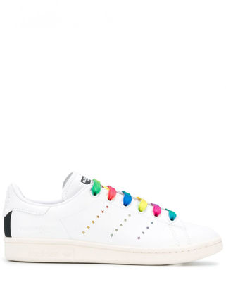 Lace-up Casual Style Plain Logo Low-Top Sneakers