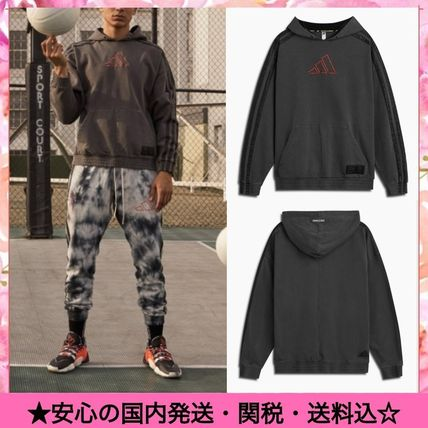 Pullovers Street Style Collaboration Long Sleeves Plain Logo