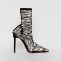 SIMMI Plain Pin Heels Party Style Elegant Style High Heel Boots