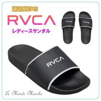 RVCA Rubber Sole Casual Style Street Style Plain Sport Sandals