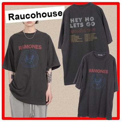 Raucohouse More T-Shirts Street Style Cotton Short Sleeves T-Shirts