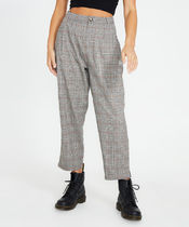 STUSSY Glen Patterns Casual Style Cotton Long Logo Culottes