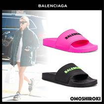 BALENCIAGA Casual Style Plain Shower Shoes Flip Flops Slippers