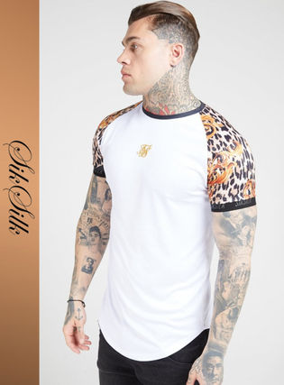 Leopard Patterns Street Style Short Sleeves Logo T-Shirts