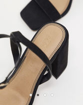 ASOS Open Toe Casual Style Suede Plain Block Heels Party Style