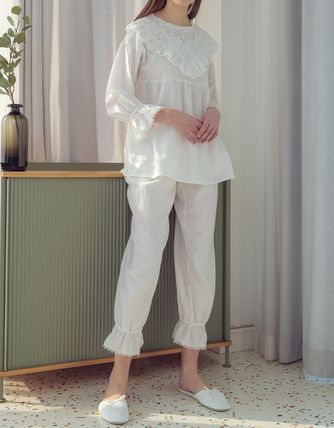 Plain Cotton Lace Loungewear Lounge & Sleepwear