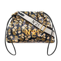 N21 numero ventuno Flower Patterns Leather Logo Shoulder Bags