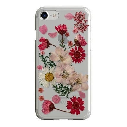 Flower Patterns Blended Fabrics Silicon iPhone 8