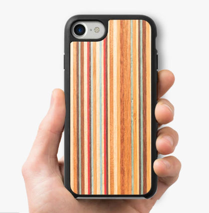 Stripes Unisex Silicon Made of Wood iPhone 8 iPhone 8 Plus