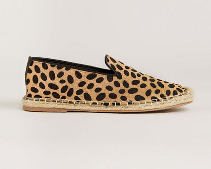 Leopard Patterns Casual Style Leather Flats