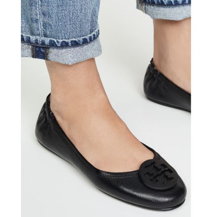 Tory Burch Casual Style Leather Street Style Flats