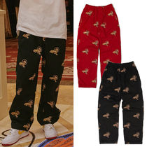 WKNDRS Printed Pants Unisex Street Style Other Animal Patterns