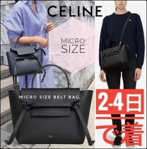 CELINE Belt Casual Style Calfskin Plain Leather Office Style