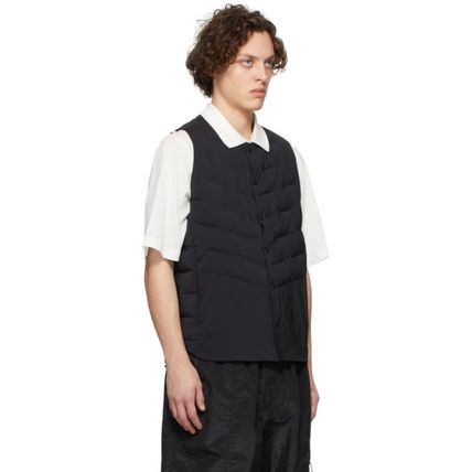 Nylon Blended Fabrics Vests & Gillets