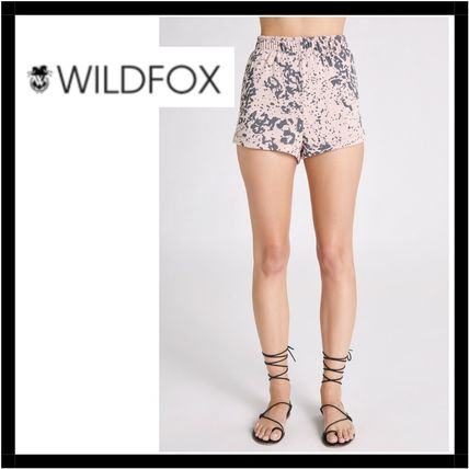 Printed Pants Short Leopard Patterns Casual Style