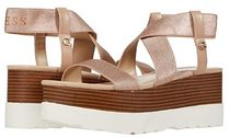 Guess Open Toe Platform Casual Style Plain Logo