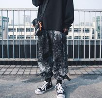 Printed Pants Street Style Tie-dye Cotton Oversized