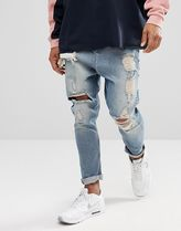 ASOS Denim Street Style Plain Cotton Sarouel Pants