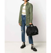 MONCLER Casual Style Street Style A4 Logo Totes