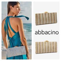 Abbacino Stripes Casual Style Party Style Elegant Style Shoulder Bags
