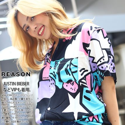 REASON Shirts Other Plaid Patterns Heart Star Unisex Street Style 3