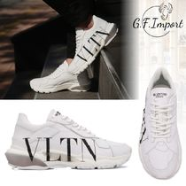 VALENTINO Leather Dad Sneakers Logo Sneakers