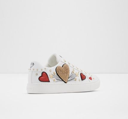 Heart Star Round Toe Rubber Sole Casual Style Faux Fur
