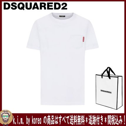 D SQUARED2 More T-Shirts Street Style Plain Short Sleeves Logo T-Shirts