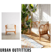 Urban Outfitters Unisex Wooden Furniture Rattan Furniture Table & Chair