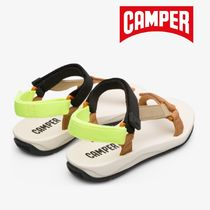 CAMPER Open Toe Rubber Sole Casual Style Plain Footbed Sandals