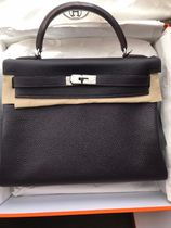 HERMES Kelly 2WAY 3WAY Plain Leather Party Style Office Style