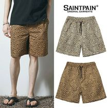 SAINTPAIN Printed Pants Leopard Patterns Unisex Street Style Cotton
