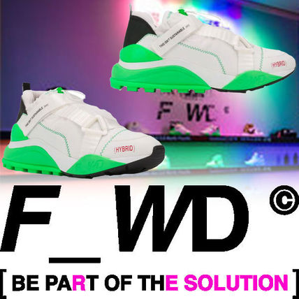 F_WD Sneakers Blended Fabrics Street Style Bi-color Leather PVC Clothing