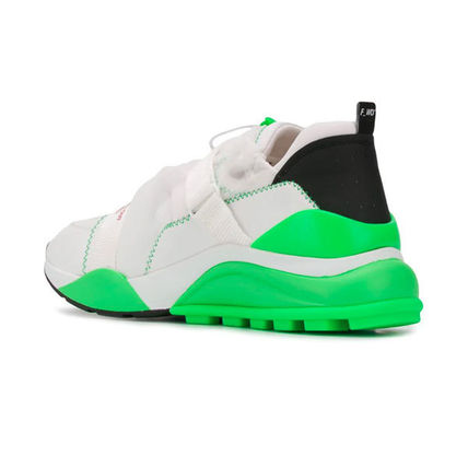 F_WD Sneakers Blended Fabrics Street Style Bi-color Leather PVC Clothing 3