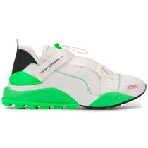 F_WD Sneakers Blended Fabrics Street Style Bi-color Leather PVC Clothing 5