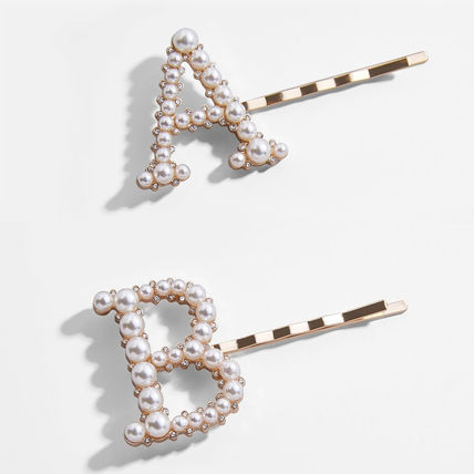 Casual Style Initial Brass Elegant Style Hair Accessories