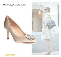 Manolo Blahnik Hangisi Pin Heels Stiletto Pumps & Mules