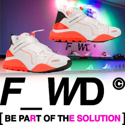 F_WD Sneakers Faux Fur Blended Fabrics Street Style Bi-color PVC Clothing