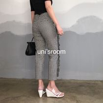 Printed Pants Gingham Other Plaid Patterns Casual Style