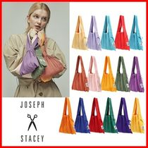 JOSEPH&STACEY Casual Style Plain Purses Bucket Bags