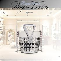 Roger Vivier Casual Style 2WAY Chain Leather Party Style Elegant Style