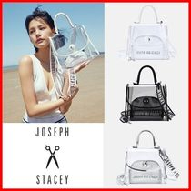 JOSEPH&STACEY Casual Style Street Style Crystal Clear Bags Logo