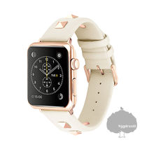 Unisex Studded Street Style Smartwatch Apple Watch Belt