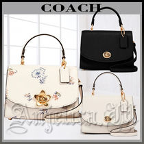 Coach Flower Patterns Casual Style Unisex Canvas Blended Fabrics