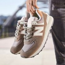 New Balance 574 Rubber Sole Casual Style Suede Street Style Plain Logo