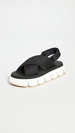 Rubber Sole Casual Style Plain Sport Sandals Office Style