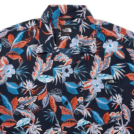 THE NORTH FACE Shirts Flower Patterns Short Sleeves Logo Outdoor Shirts 3