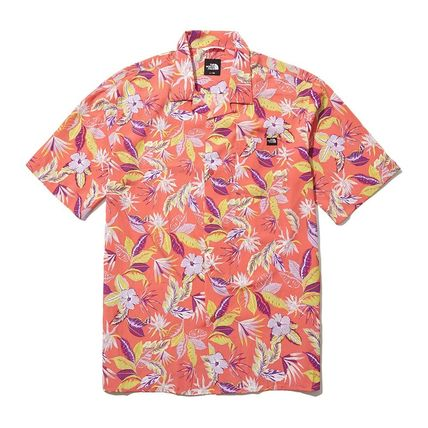 THE NORTH FACE Shirts Flower Patterns Short Sleeves Logo Outdoor Shirts 5
