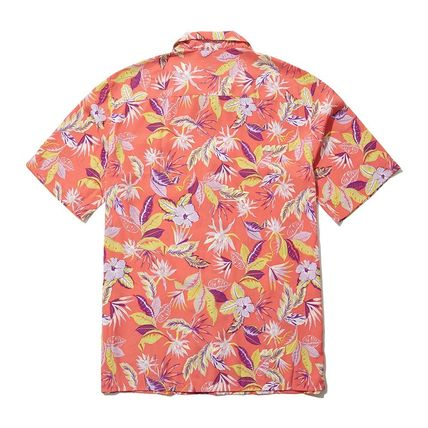 THE NORTH FACE Shirts Flower Patterns Short Sleeves Logo Outdoor Shirts 6